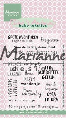 Marianne Design Stamp - Baby Tekstjes EC0171