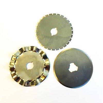 Rotary Cutter Reservemesjes - 28 mm Recht, Wave & Perforatie 12411-1122