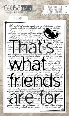 Coosa Crafts Clearstamp A6 - Friends COC-038 SALE