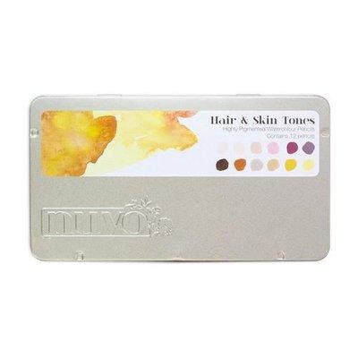 Nuvo Watercolor Pencils - Hair & Skin Tones 521N