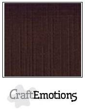 CraftEmotions Linen Cardboard A5 - Chocolate SALE