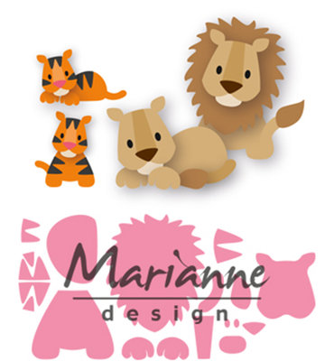Marianne Design Collectable - Eline's Lion & Tiger COL1455