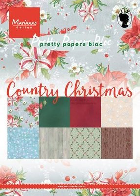 Marianne Design Paper Pack A5 - Country Christmas PK9139 SALE