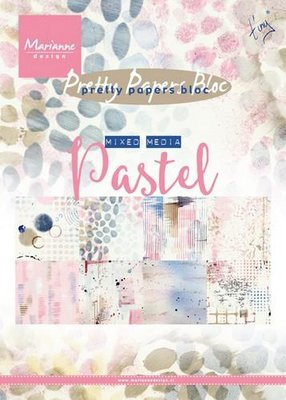 Marianne Design Paper Pack A5 - Mixed Media Pastel PK9141 SALE