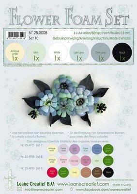 Leane Creatief Flower Foam Assortiment 10 - Zwart, grijs 25.5008 SALE