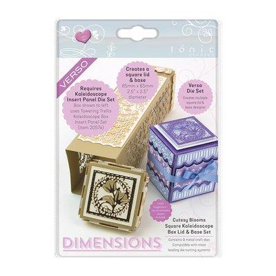Tonic Studios Die Kaleidoscope Box Lid - Cutesy Bloom Square 2056E SALE