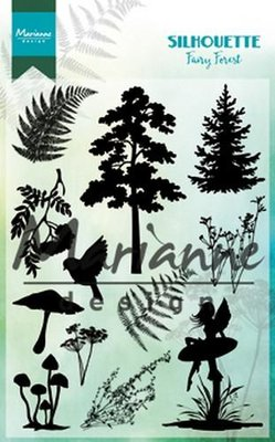 Marianne Design Stamp - Silhouette Fairy forest CS1013 SALE