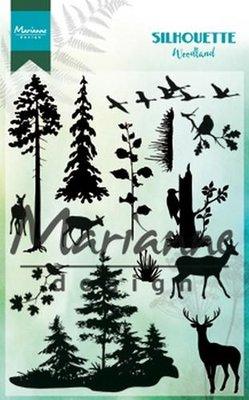 Marianne Design Stamp - Silhouette Woodland CS1014 SALE