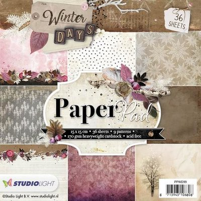 Studio Light Paper Pack 15 x 15 cm - Winter Days nr. 99 PPWD99 SALE