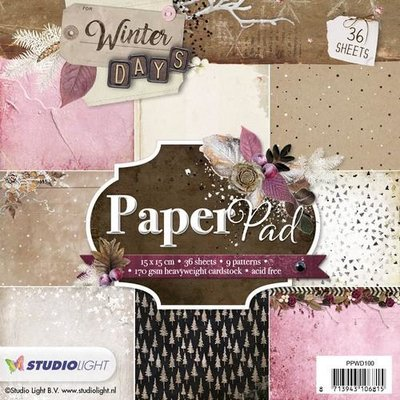 Studio Light Paper Pack 15 x 15 cm - Winter Days nr. 100 PPWD100 SALE