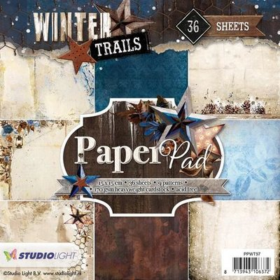 Studio Light Paper Pack 15 x 15 cm - Winter Trails nr. 97 PPWT97 SALE