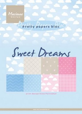 Marianne Design Paper Pack A5 - Eline's Sweet Dreams PB7055