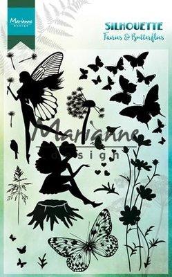 Marianne Design Stamp - Silhouette Fairies & Butterflies CS1016 SALE