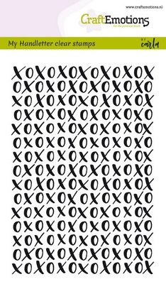 CraftEmotions Clearstamp - Handletter Background XOXO