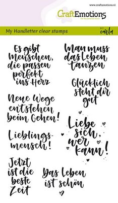 CraftEmotions Clearstamp - Quotes DE Handlettering