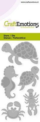 CraftEmotions Die - Turtle & Seahorse