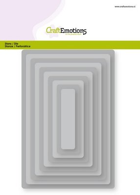 CraftEmotions Nesting Die - Rectangles with Rounded Corners