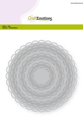 CraftEmotions Nesting Die - Circles with Open Scallop XL