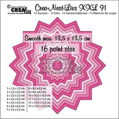 Crealies CREA-NEST-LIES XXL  91