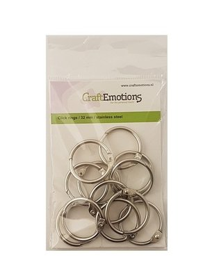 CraftEmotions Bookbinder Rings 32 mm