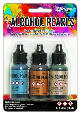 Ranger Alcohol Ink Pearl Kit - Celestial, Mineral, Smolder TANK65548