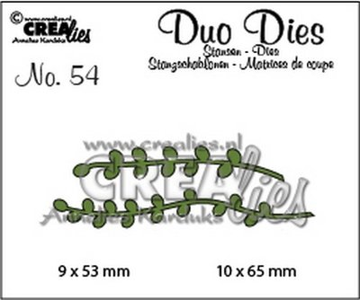 Crealies Duo Dies 54 - Blaadjes 9