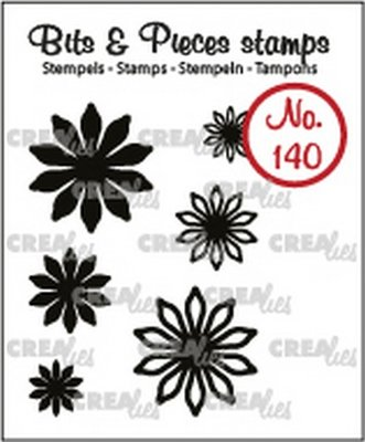 Crealies Bits & Pieces 140 Mini Flowers 17