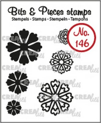 Crealies Bits & Pieces 146 Mini Flowers 24