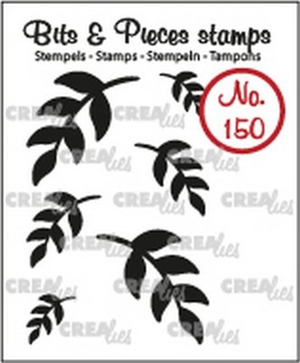 Crealies Bits & Pieces 150 Mini Leaves 5 Solid