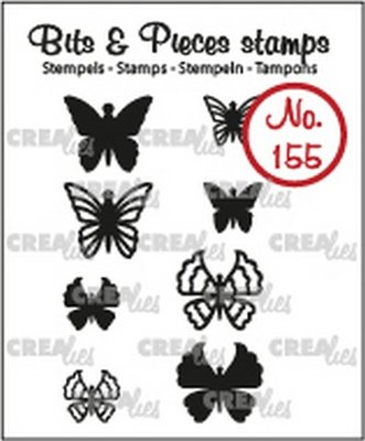 Crealies Bits & Pieces 155 Mini Butterflies 5 + 6