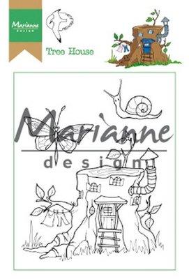 Marianne Design Stamp - Hetty's Tree House HT1642