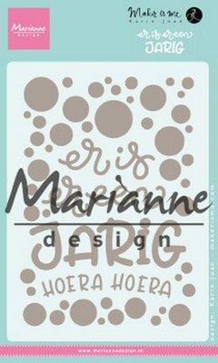 Marianne Design Stamp - Karin's Er is er een jarig KJ1729
