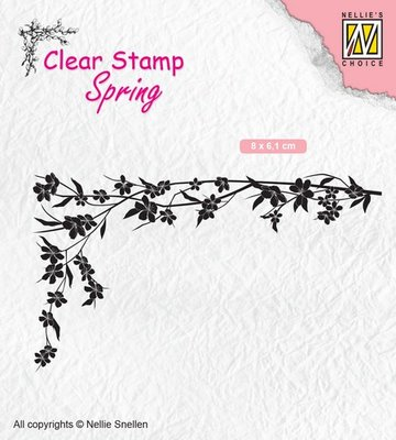 Nellie's Choice Clearstamp Spring - Floral Corner 1 SPCS007