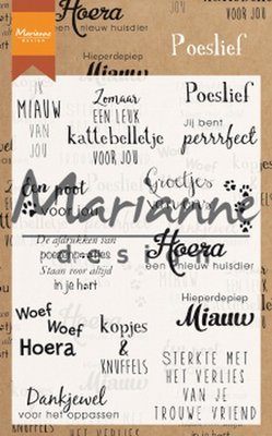 Marianne Design Stamp - Poeslief CS1023