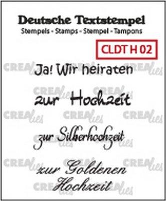 Crealies Tekst & Zo Deutsch - Hochzeit  2
