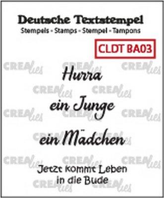 Crealies Tekst & Zo Deutsch - Baby  3