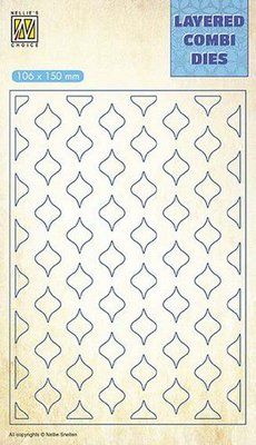Nellie's Choice Layered Combi Die - Eastern Oval Layer B LCDE002