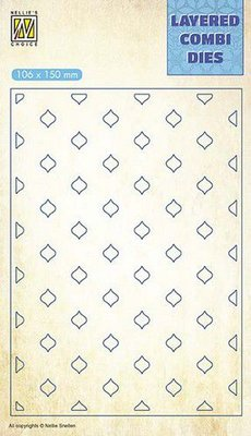 Nellie's Choice Layered Combi Die - Eastern Oval Layer C LCDE003