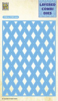 Nellie's Choice Layered Combi Die - Lattice Layer C LCDL003 SALE