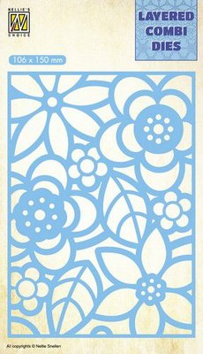 Nellie's Choice Layered Combi Die - Flowers Layer B LCDB002 SALE