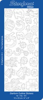 Starform Sticker Sheet - Luck Symbols - Silver 0101.002