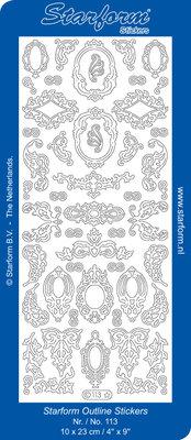 Starform Sticker Sheet - Decoration Frames - Gold 0113.001