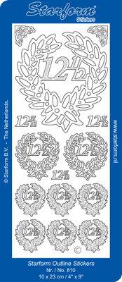 Starform Sticker Sheet - Jubilee 2: 12,5 - Silver 0810.002
