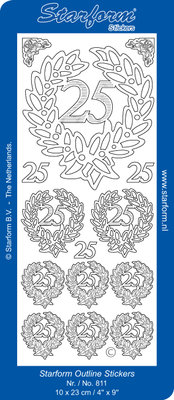 Starform Sticker Sheet - Jubilee 4: 25 - Gold 0811.001