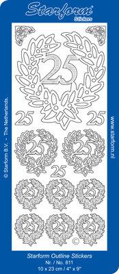 Starform Sticker Sheet - Jubilee 4: 25 - Silver 0811.002