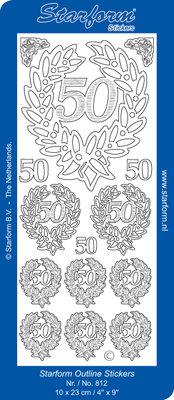 Starform Sticker Sheet - Jubilee 6: 50 - Gold 0812.001
