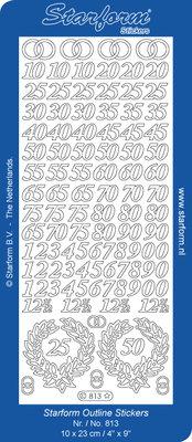 Starform Sticker Sheet - Jubilee 8: Numbers - Silver 0813.002