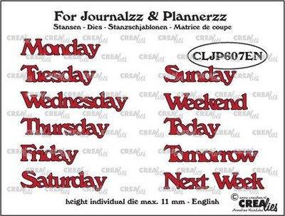 Crealies Journalzz & Plannerzz - Dies: Weekdays EN