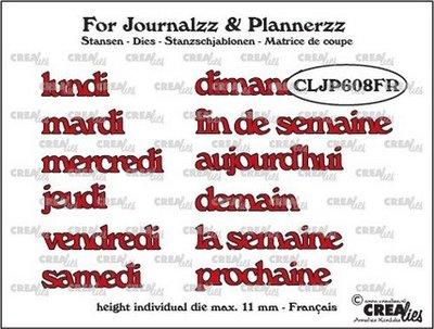Crealies Journalzz & Plannerzz - Dies: Weekdays FR