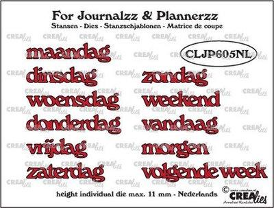 Crealies Journalzz & Plannerzz - Dies: Weekdays NL